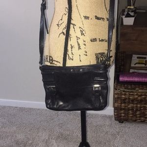 Black leather Cole Haan crossbody purse